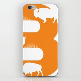 B is for Bison - Animal Alphabet Series iPhone Skin