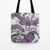 fabric Tote Bags featuring Lavender Fabric by DuckyB