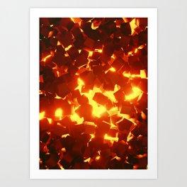 Coals Art Print