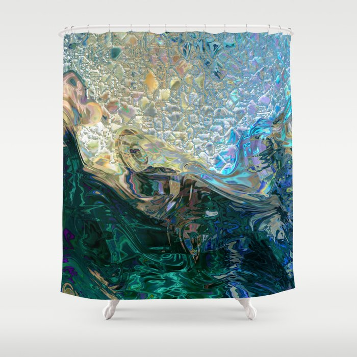 Sea Nymph Abstract Shower Curtain