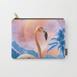 Flamingo World #digitalmagic #collage  Carry-All Pouch