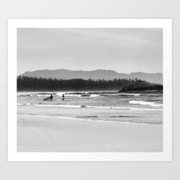 Tofino Grey Surf Art Print