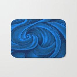 swirl (dark blue) Bath Mat
