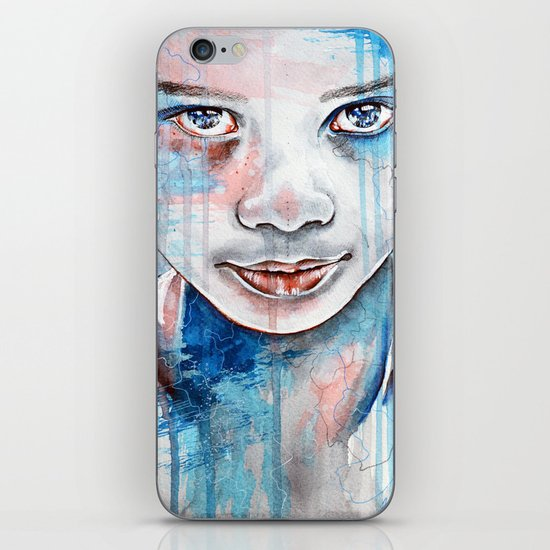 When the rain washes you clean, watercolor illustration iPhone & iPod Skin
