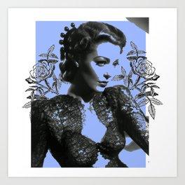 1940's Screen Siren Tattoo Art Art Print