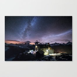 Gornergrat at night Canvas Print