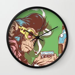 Knuckle Dragger Wall Clock