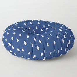 Blue rain Floor Pillow