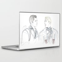 bucky Laptop & iPad Skins featuring Steve & Bucky by Christine Ring