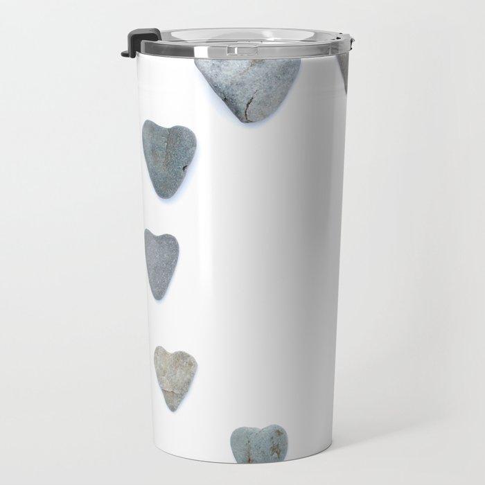 Heart rock gradation aka Rock around the clock! Travel Mug