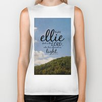 ellie goulding Biker Tanks featuring Ellie by KimberosePhotography