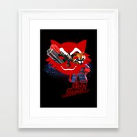 rocket raccoon Framed Art Prints featuring Rocket Raccoon by Markusian