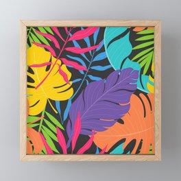 Six Leaves Plant Framed Mini Art Print