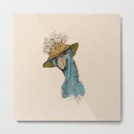 Bird in Hat 4 Metal Print