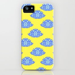 Lotus Pattern Yellow iPhone Case
