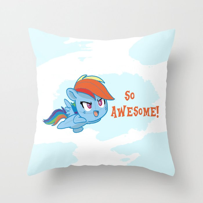 Rainbowdash cutie  Throw Pillow