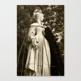The Queen, side view (sepia version) Canvas Print