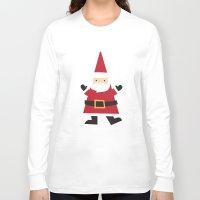 santa Long Sleeve T-shirts featuring Santa by Claire Lordon