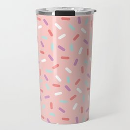 Pink Sprinkle Confetti Pattern Travel Mug