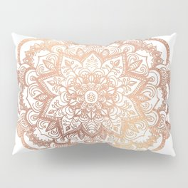 Mandala Rose-Gold Shine Pillow Sham