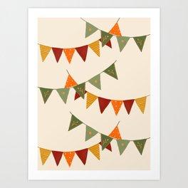 Fall bunting Art Print