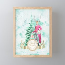 Merry Christmas my deer Framed Mini Art Print