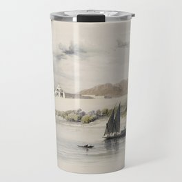 Dendera is one of the latest Egyptian temples  by David Roberts (1796-1864) Travel Mug