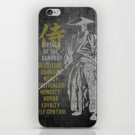 Virtues of Samurai iPhone Skin