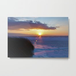 Frozen Sound Metal Print