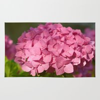 hydrangea Area & Throw Rugs featuring Hydrangea by Susann Mielke