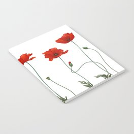 Poppy Stems Notebook
