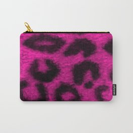 Spotted Leopard Print Pink Carry-All Pouch