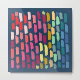 Rainbow Chalk Rain Metal Print