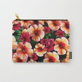 Flower Peach Petunia Carry-All Pouch