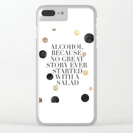 ALCOHOL BAR SIGN, Alcohol Quote,Drink Sign,Celebrate Life,Weeding,Anniversary,Home Bar Decor,Quote P Clear iPhone Case