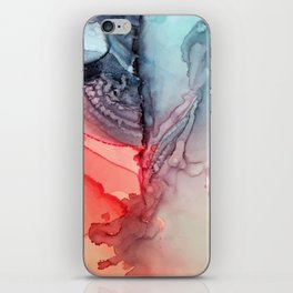 Undertow Meets Lava- Alcohol Ink Painting iPhone Skin