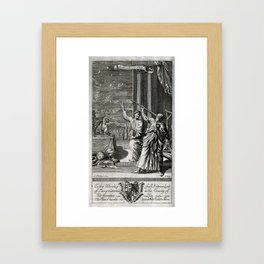 J Kip after G Freman - Classical Astronomy Scene, dedicated to Andrew Lant (1693) Framed Art Print