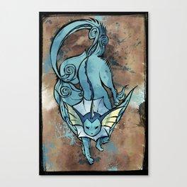 Okami style: Vaporeon Canvas Print