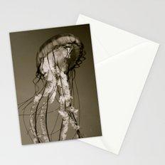 Jellyfish B&W Stationery Cards