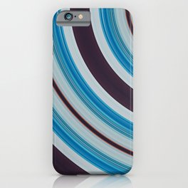 Blue, white and purple iPhone Case