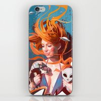 gravity iPhone & iPod Skins featuring GRAVITY by Javier G. Pacheco