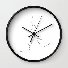 Long lost lovers Wall Clock