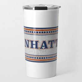 NY Subway Mosaic Manhattan Travel Mug