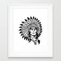 headdress Framed Art Prints featuring Headdress by Gregg Deal