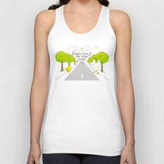 Why Did the Chicken Cross the Road? Unisex Tank Top