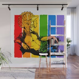 Dino Pride: Triceatops Jeff Wall Mural