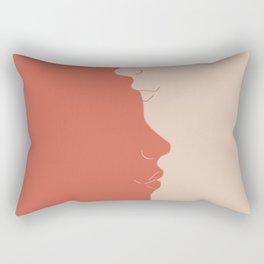 Yin Yang Kiss Rectangular Pillow