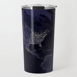 Earth Globe Lights Travel Mug