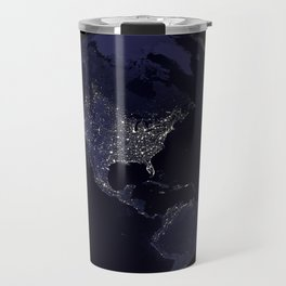 Earth Globe Lights Travel Mug