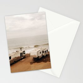 Campers on the beach Stationery Cards